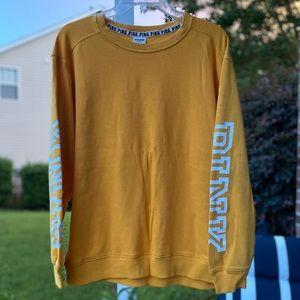 VS PINK Yellow Crew Neck Oversized Sweatshirt